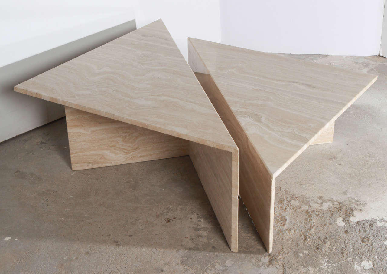 Two piece italian travertine coffee table at 1stdibs Exclusive coffee tables