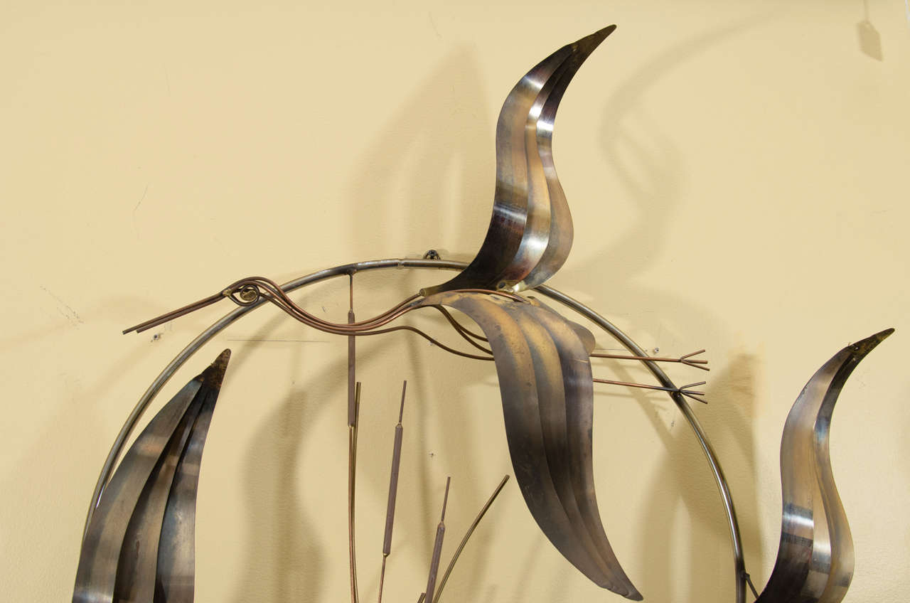 Curtis Jere Flying Geese Wall Sculpture For Sale at 1stdibs