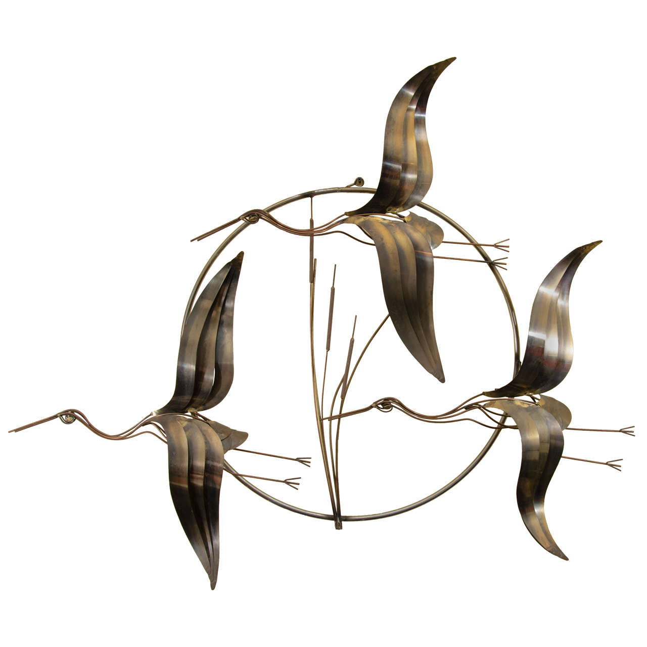 Curtis Jere Flying Geese Wall Sculpture