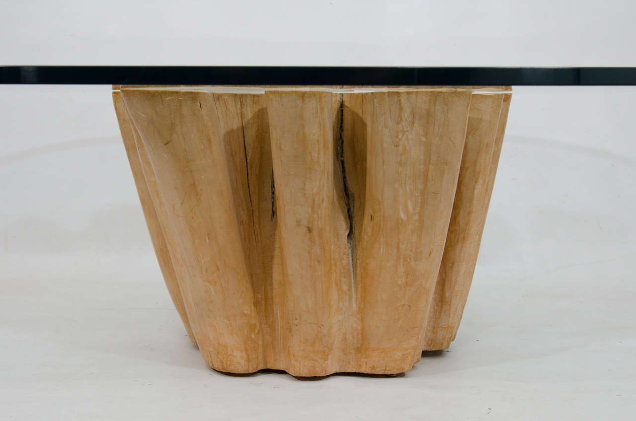 Elegant Cypress Tree Trunk Coffee Table At 1stdibs