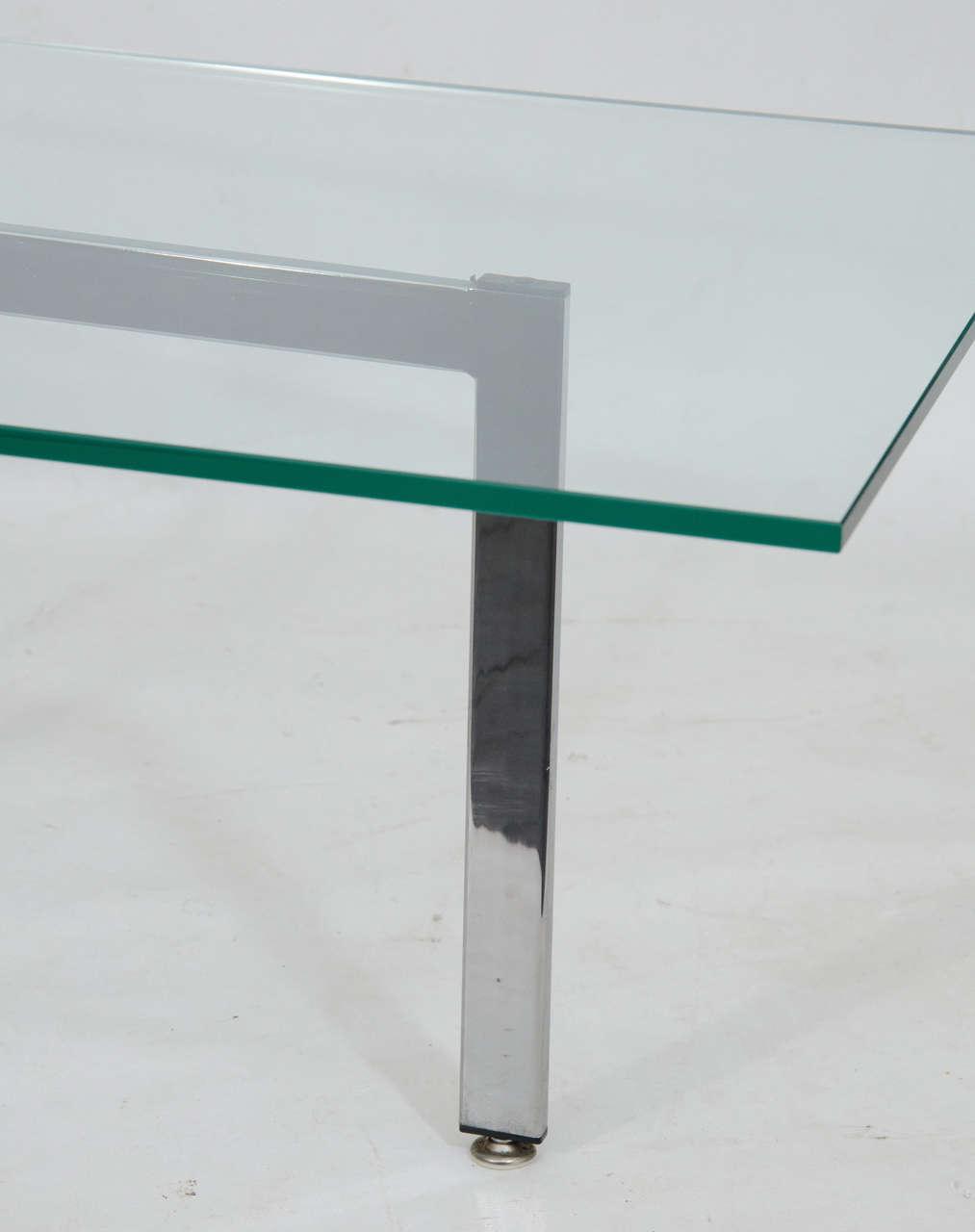 Rectangular Glass Coffee Table: Chrome And Glass Rectangular Coffee Table At 1stdibs