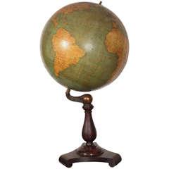 Large Vintage Late 19th Century Terrestrial Globe