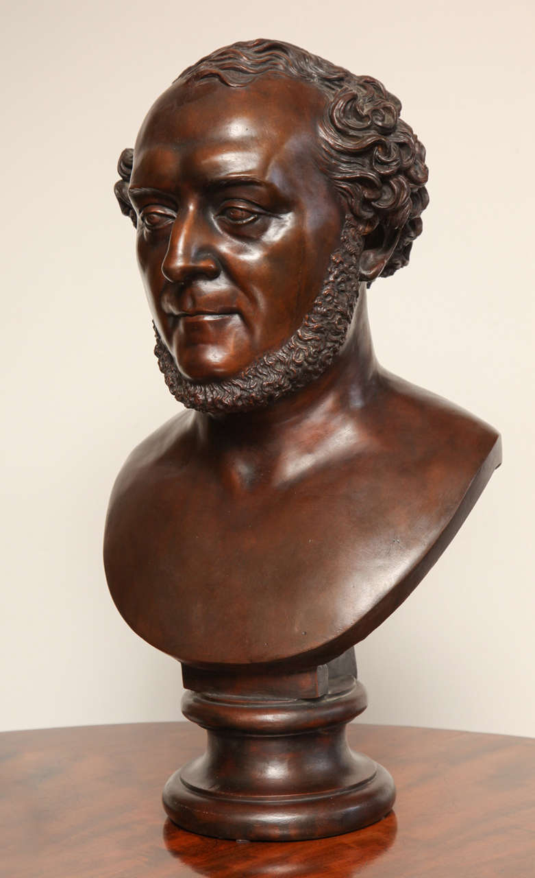 19th Century French, Bronze Bust Marked