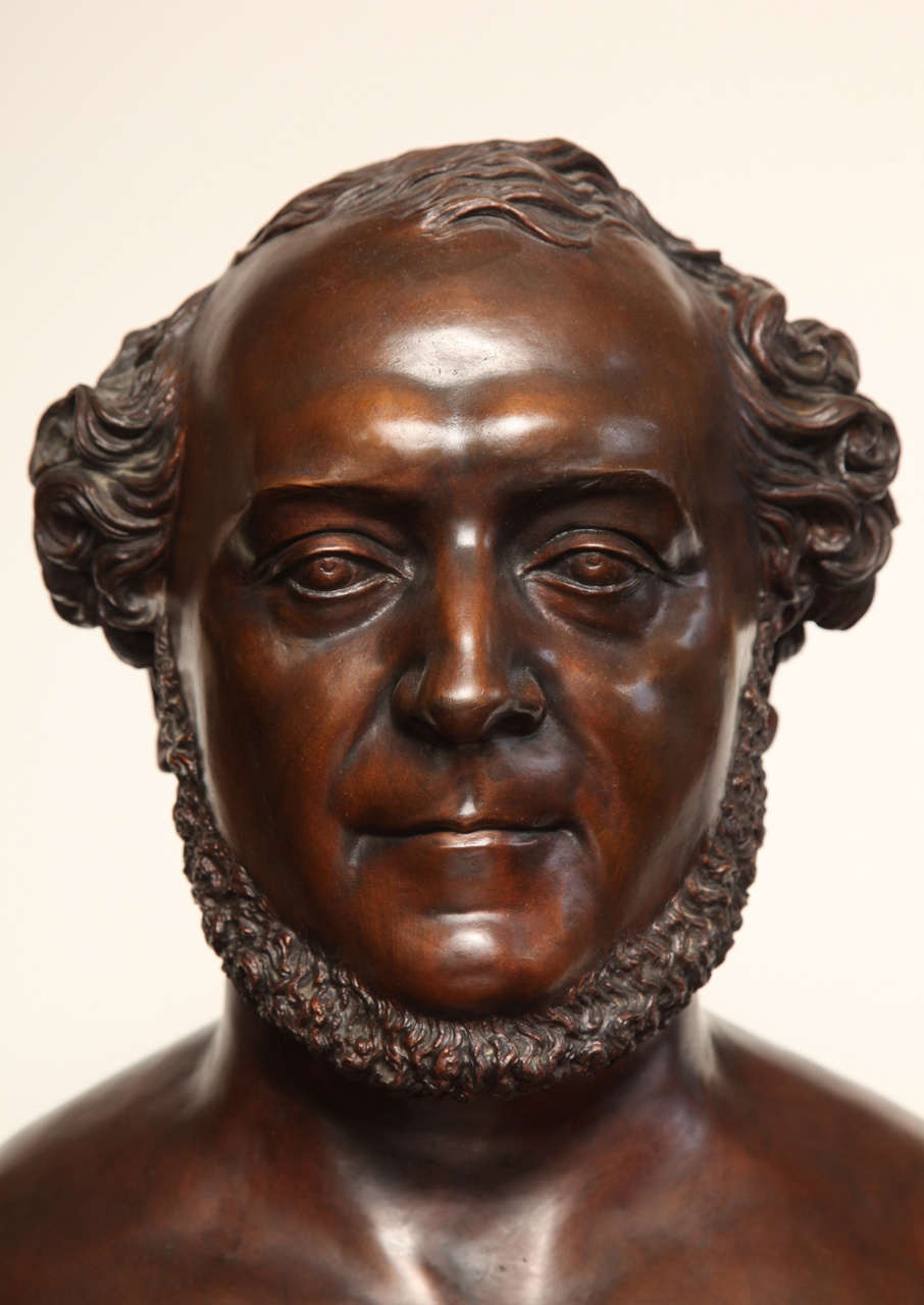 French 19th Century Bronze Bust For Sale