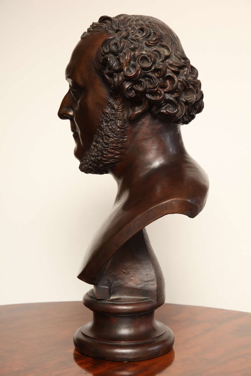 19th Century Bronze Bust For Sale 1