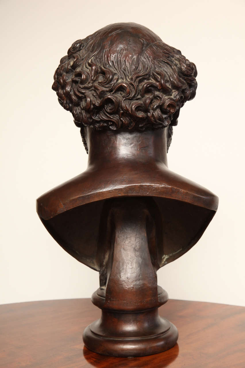 19th Century Bronze Bust For Sale 2