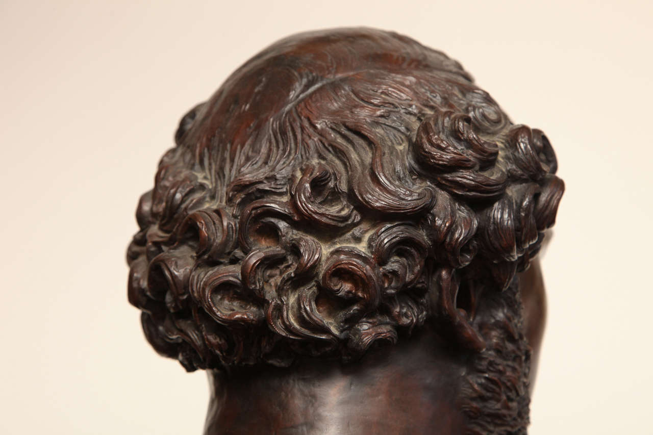 19th Century Bronze Bust For Sale 4