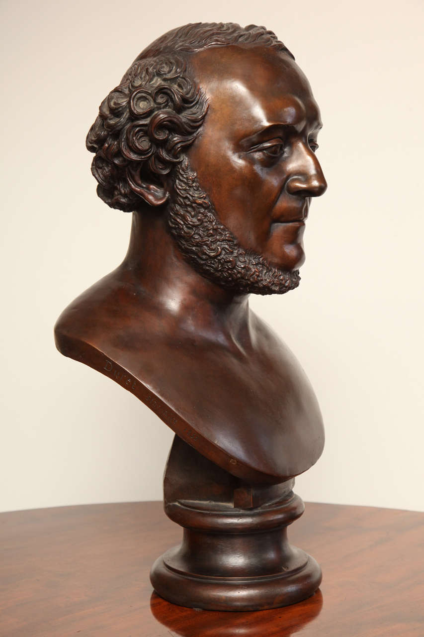 19th Century Bronze Bust For Sale 6