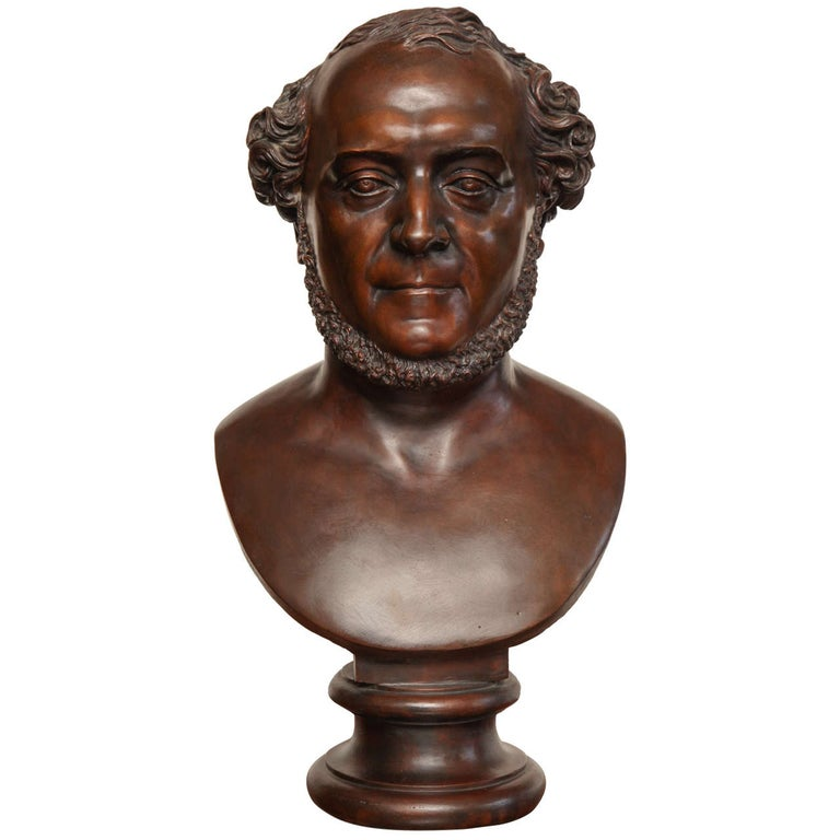 19th Century Bronze Bust For Sale
