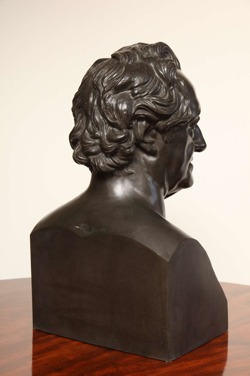 19th Century Bronze Bust of Goethe For Sale 5