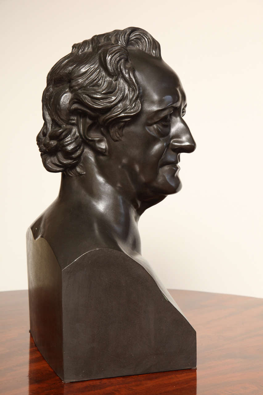 19th Century Bronze Bust of Goethe For Sale 6