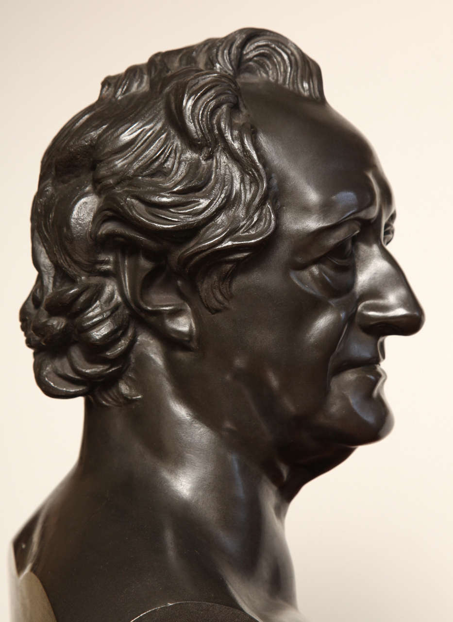 19th Century Bronze Bust of Goethe For Sale 7