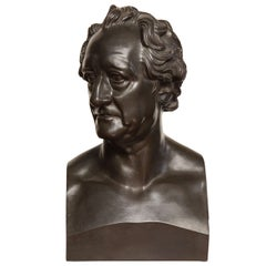 19th Century Bronze Bust of Goethe