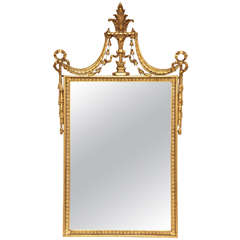 Early 20th Century Gilded Neoclassical Looking Glass