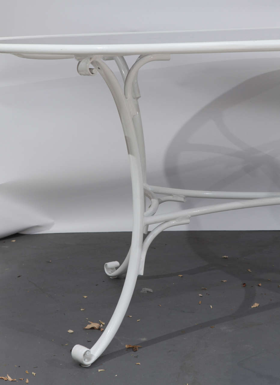 White aluminum and smoked glass patio table at 1stdibs for White patio table