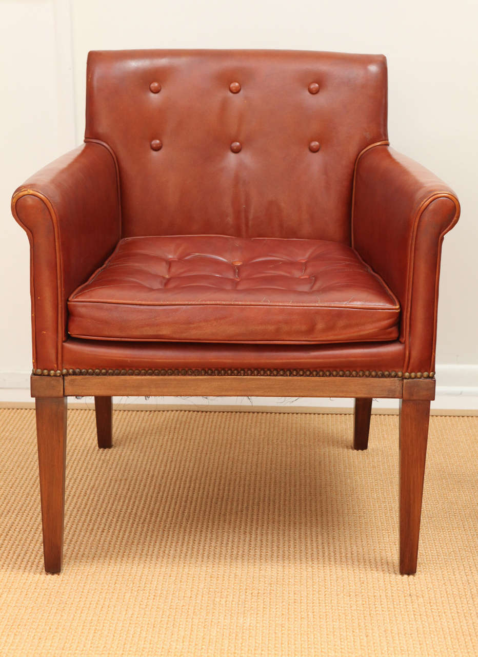 pair of ralph morse leather armchairs at stdibs - pair of ralph morse leather armchairs