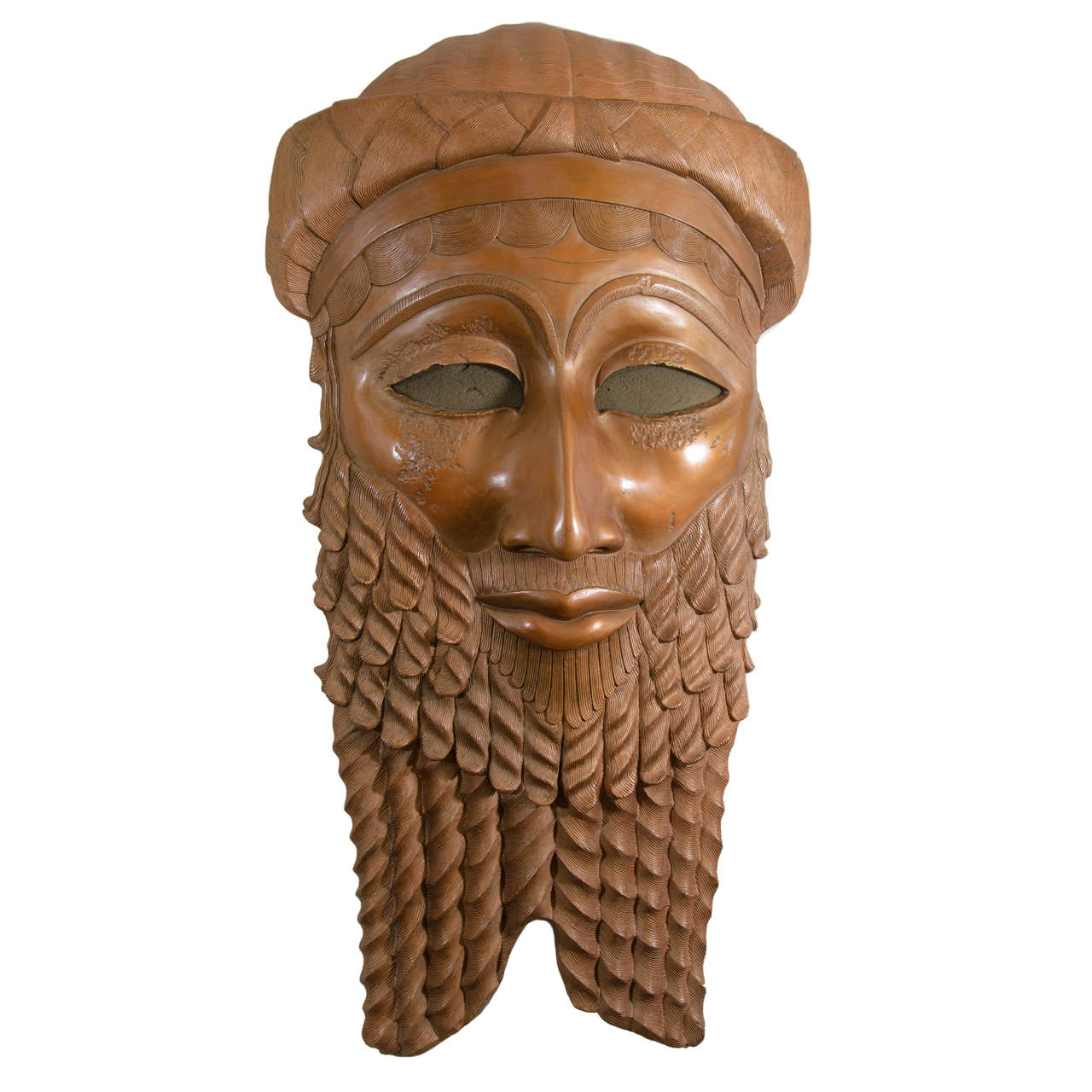 Home Center Decor A Bronze Sculpture Of The Head Of Iraqi King Sargon Of