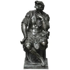 Lorenzo de' Medici,  Almost Life-Size Bronze Sculpture after Michelangelo