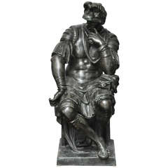 Lorenzo de' Medici,  Almost Life-Size Bronze Sculpture after Michelangelo