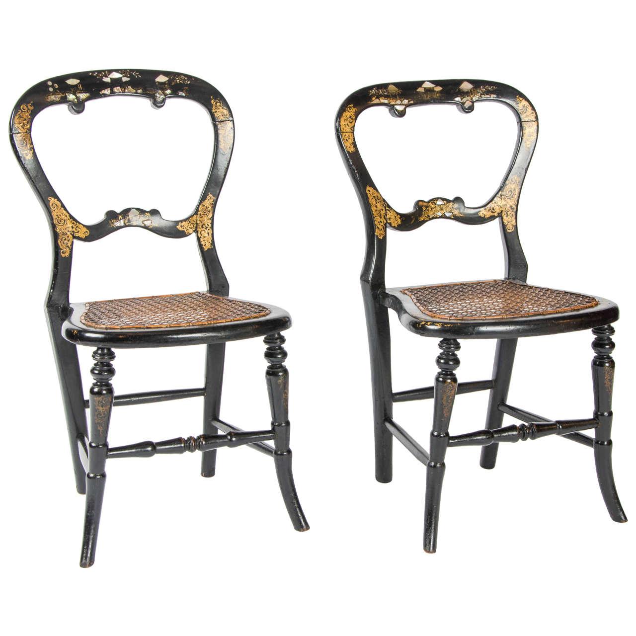 Pair of Victorian Children's Chairs