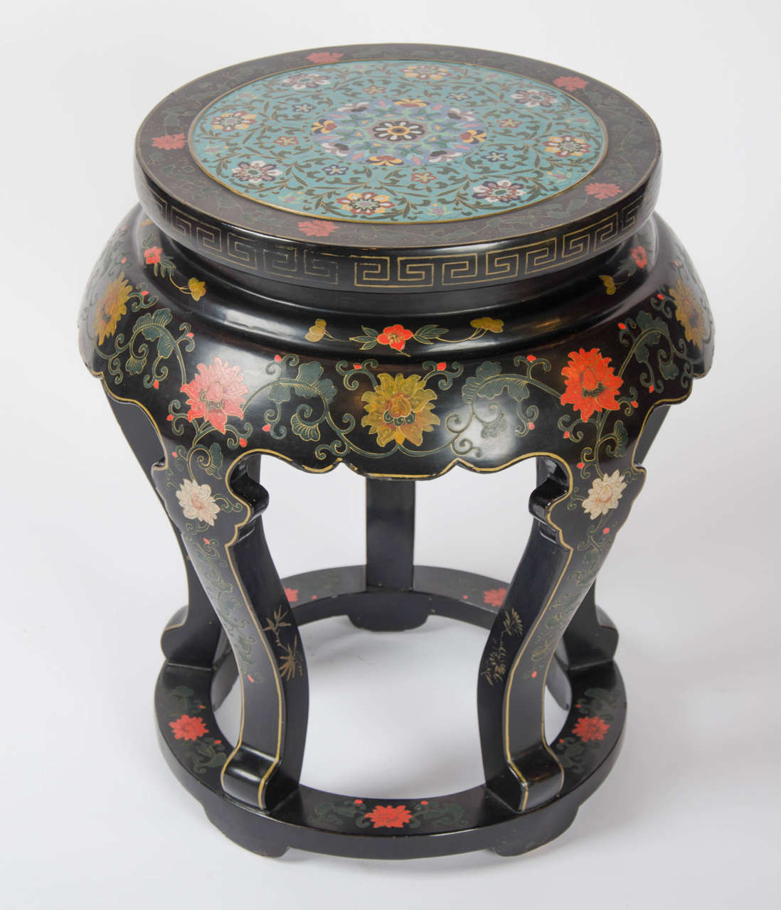 20th Century Chinese Black Lacquered Side Table With