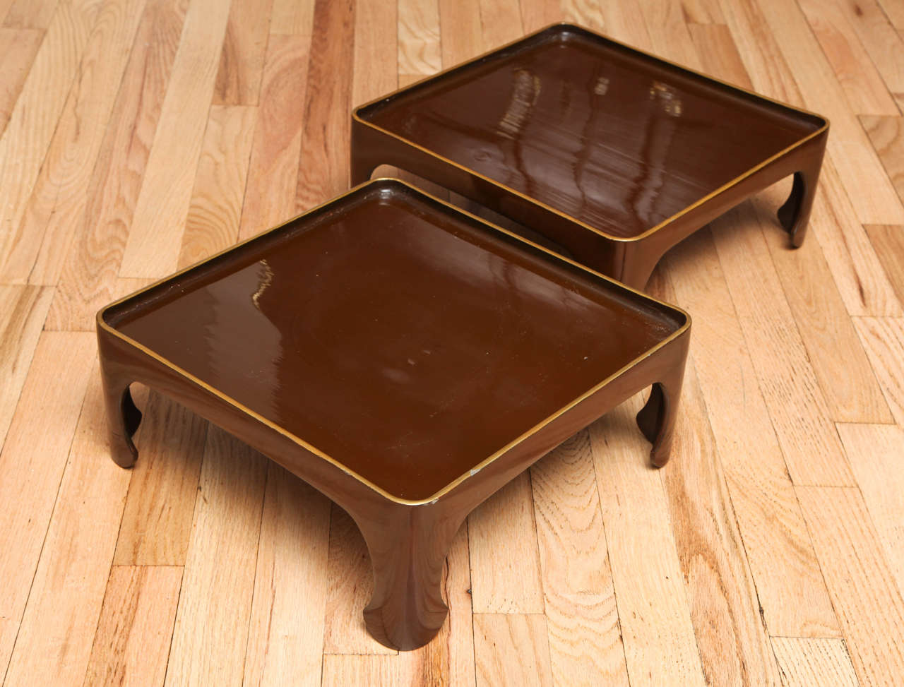 Set of four 1970s lacquered stacking tables in the chinese for Chinese style furniture for sale