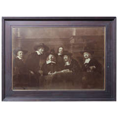 Large-Scale Albumin Print of a Rembrandt Masterpiece