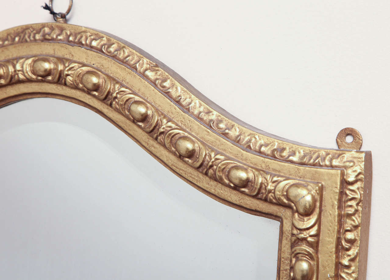 Shield-Shaped Mirror, English In Good Condition For Sale In New York, NY