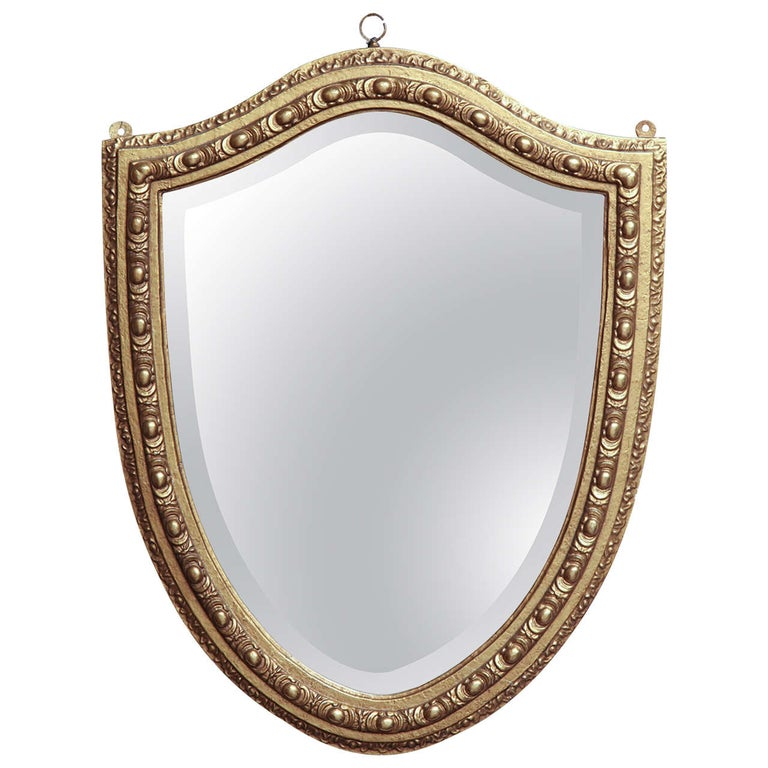 Shield-Shaped Mirror, English For Sale