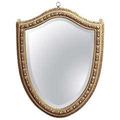 Shield-Shaped Mirror, English