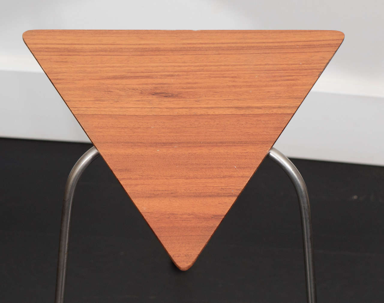 Brass Pair of Mahogany Tripod Tables For Sale