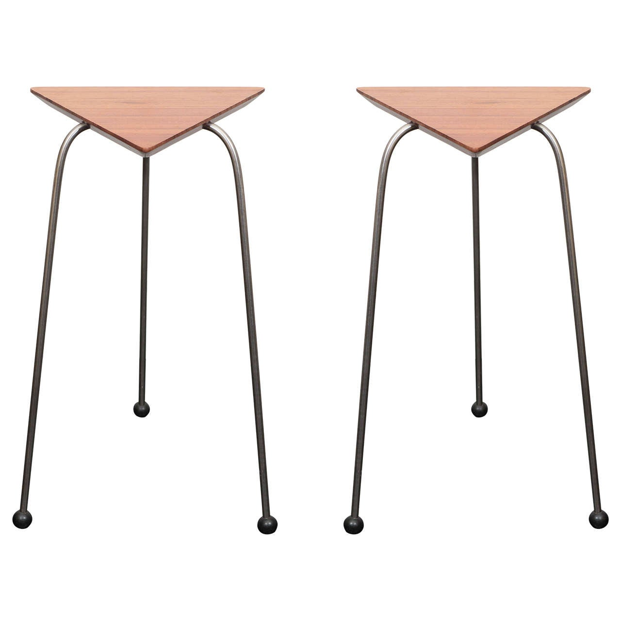 Pair of Mahogany Tripod Tables For Sale