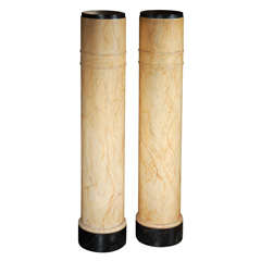Pair Of Early 20th Century Faux Marble Columns