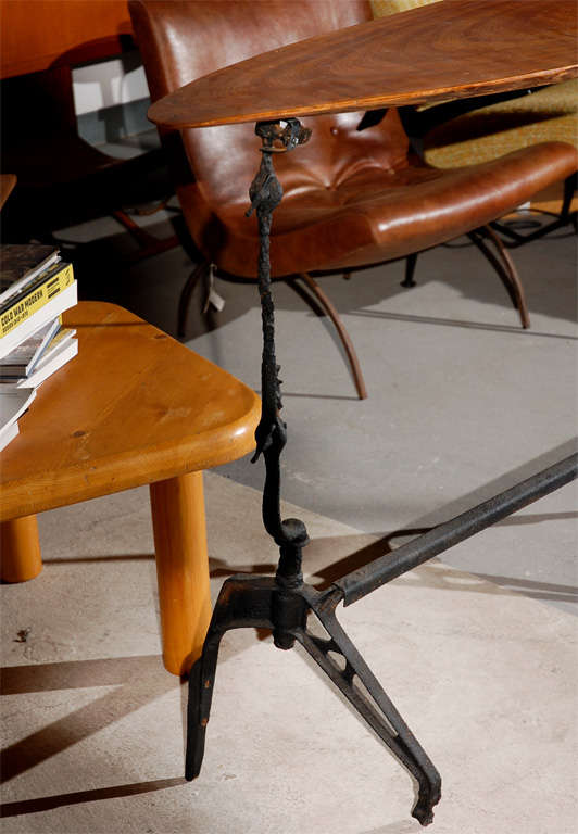 Iron and Walnut Console Table For Sale 2