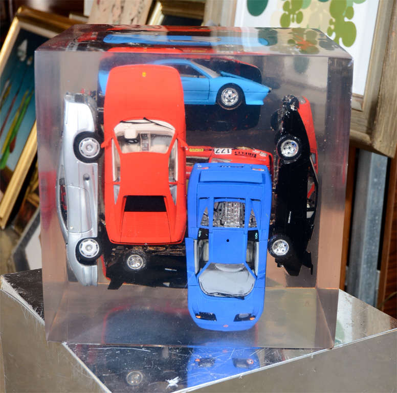 Large Resin Sculpture with Ferraris For Sale 3