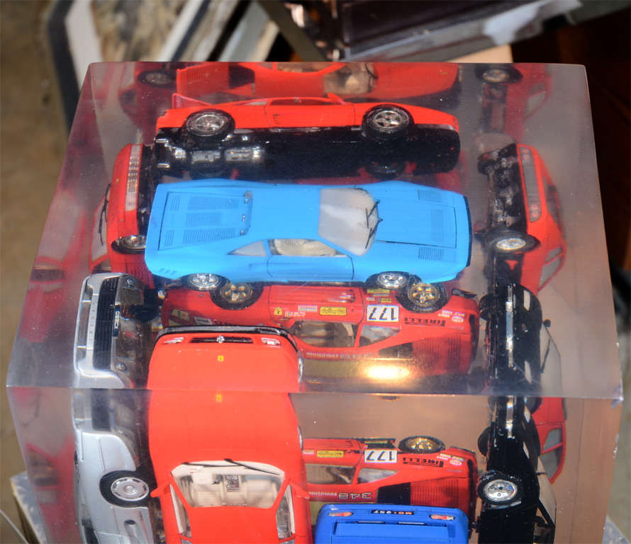 Large Resin Sculpture with Ferraris For Sale 4