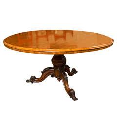 Ca. 1845 English Round Mahogany Table