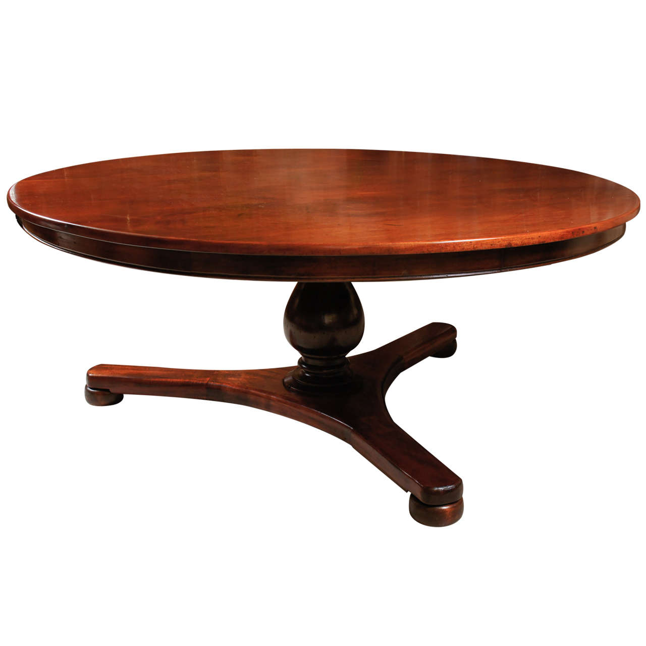 Large round regency dining room table at 1stdibs for Large round dining room table