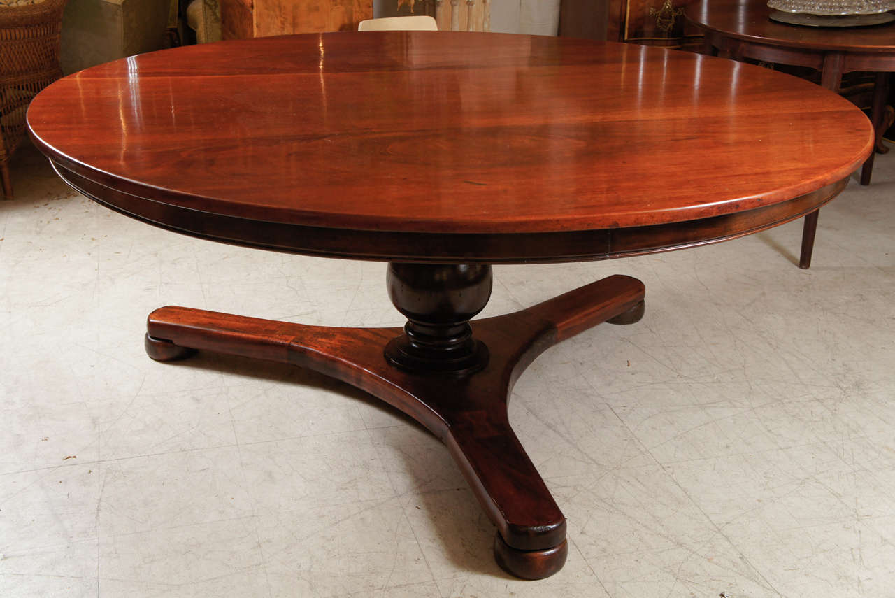 large round regency dining room table at 1stdibs