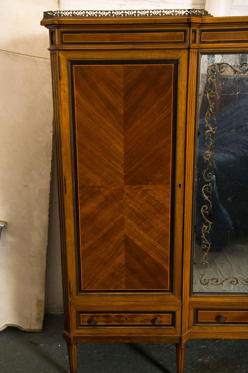 French Directoire Style Wardrobe Cabinet or Armoire by Jansen For Sale 3