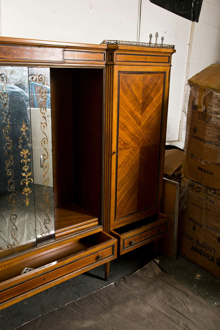 French Directoire Style Wardrobe Cabinet or Armoire by Jansen For Sale 1