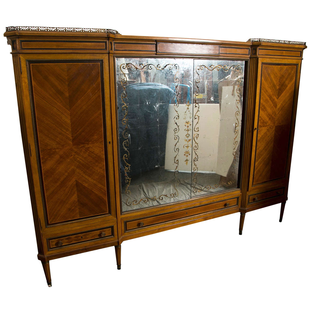 french directoire style wardrobe cabinet or armoire by. Black Bedroom Furniture Sets. Home Design Ideas
