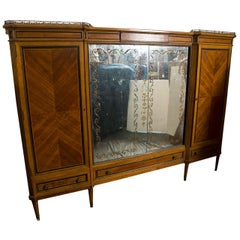 French Directoire Style Wardrobe Cabinet or Armoire by Jansen