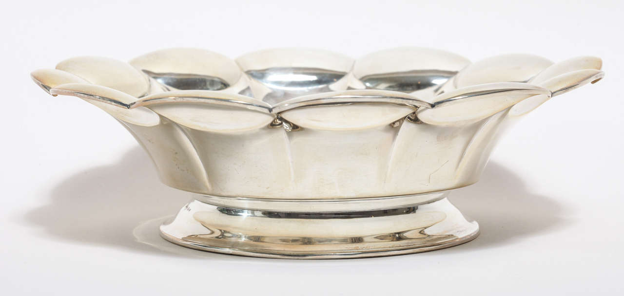 Swedish Art Deco Silver Bowl 4