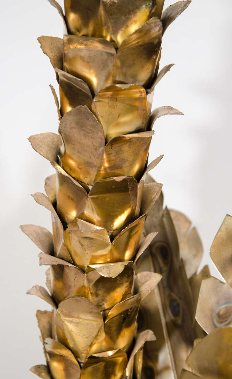 Large Mid Century Brass Quot Palm Tree Quot Sculpture At 1stdibs