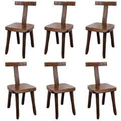 Set of Six Mid Century Teak Chairs by Olavi Hanninen for Miko Nupponen