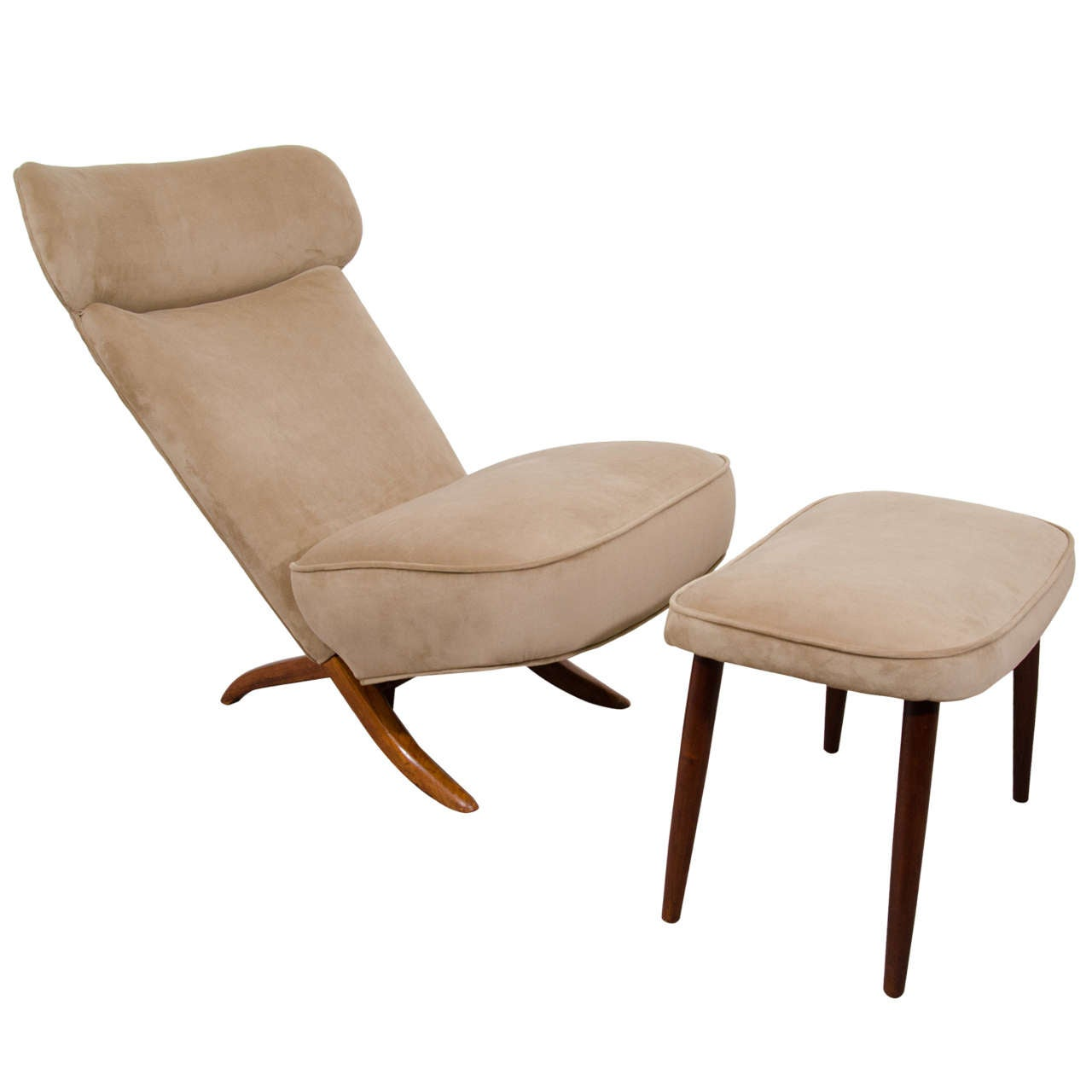 "Mid Century Chair And Ottoman: Mid Century ""Congo"" Chair And Ottoman By Theo Ruth At 1stdibs"