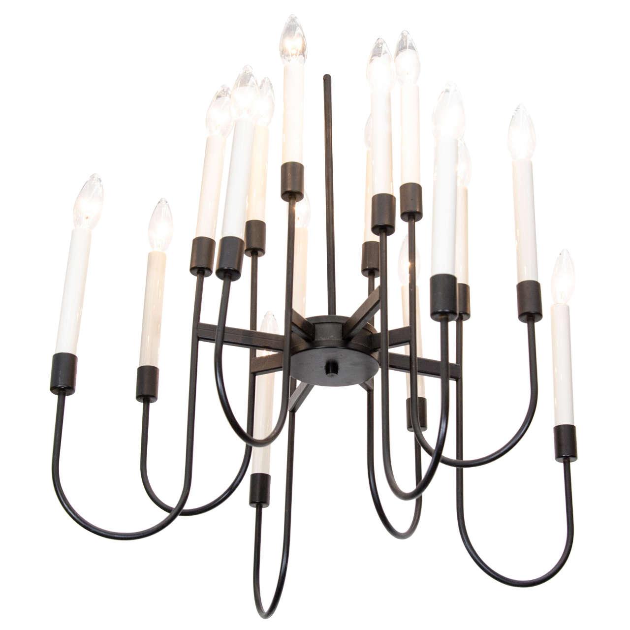 Mid century 16 light lightolier chandelier at 1stdibs mid century 16 light lightolier chandelier for sale aloadofball Images