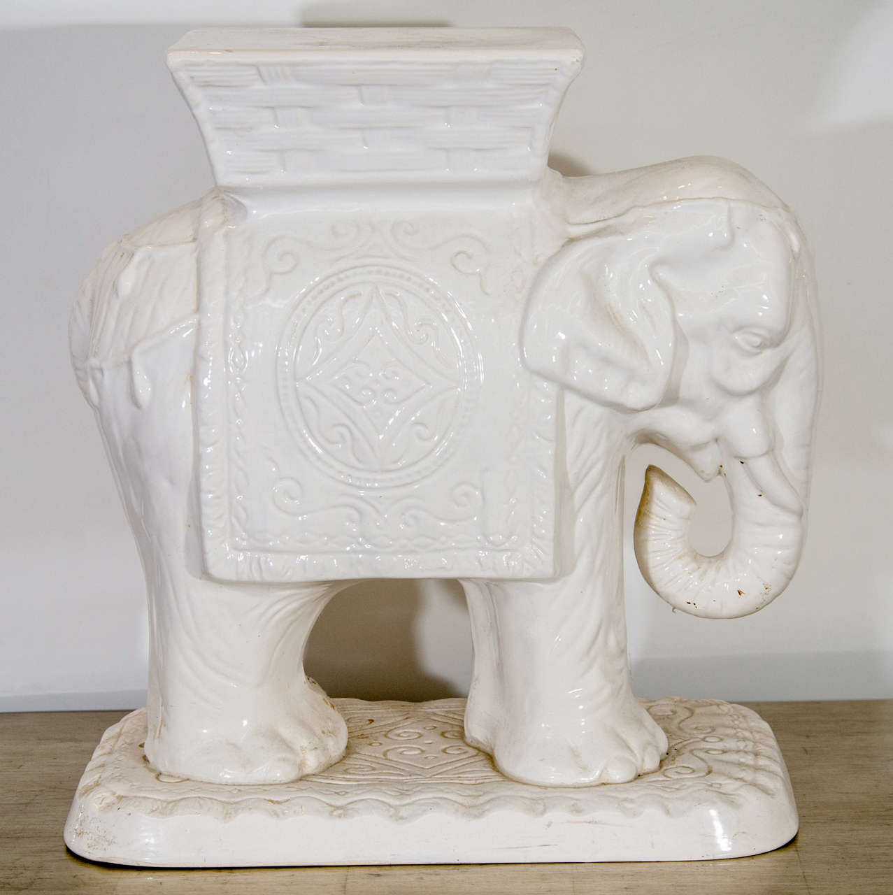 Mid Century Ceramic Elephant Garden Stool At 1stdibs