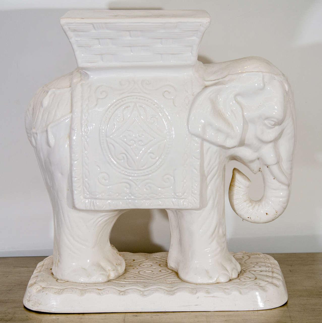 Mid Century Ceramic Elephant Garden Stool At 1stdibs